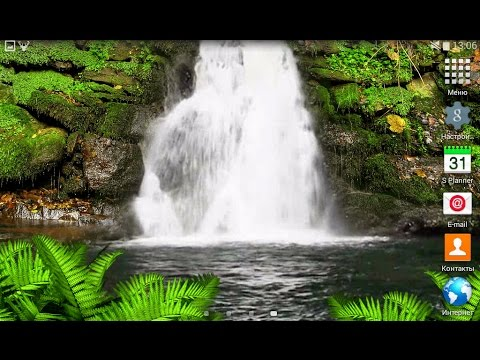 Forest Waterfall live wallpaper for OS Android - YouTube