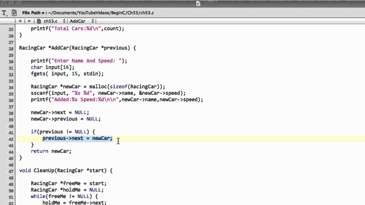 Beginning C Programming Part 53 Double Linked Lists
