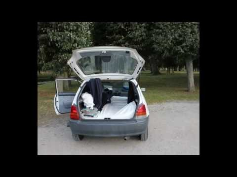 Sleeping in a small car, How to do it.. Toyota