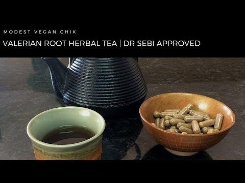 Valerian Root Herbal Sleep Tea & Capsules   Dr Sebi Approved