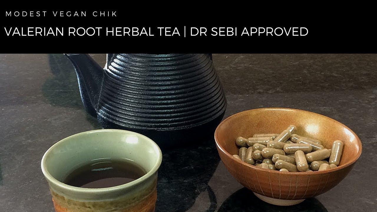 Valerian Root Herbal Sleep Tea & Capsules | Dr Sebi Approved