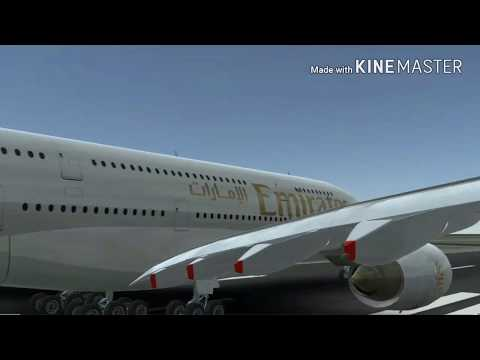 Infinite flight Emirates A380 from KORD to KSEA with Samsung background music (amazing video!!!)
