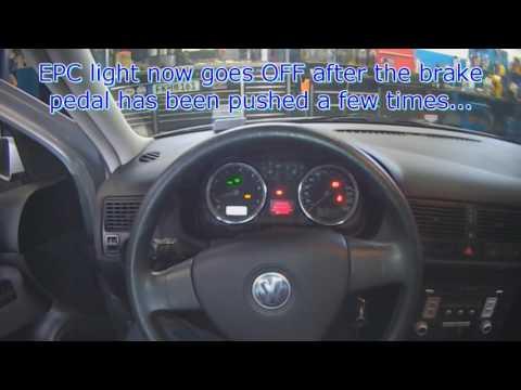 VW A4: EPC light (brake light switch fault code)