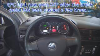 VW A4: EPC light (brake light switch fault code)