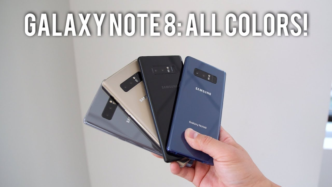 Galaxy Note 8 All Colors Comparison Buyers Guide Youtube