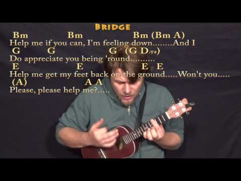 Help! (The Beatles) Ukulele Cover Lesson In Bm With Chords/Lyrics