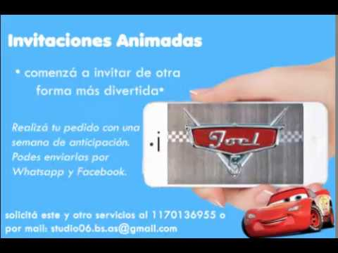 Video Invitacion De Cars La Pelicula Tarjeta Virtual Invitacion Animada Con Musica Cars 1 2