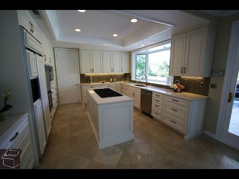 Tour of a Custom White Transitional Design Build Kitchen in Coto De Caza by APlus Kitchens