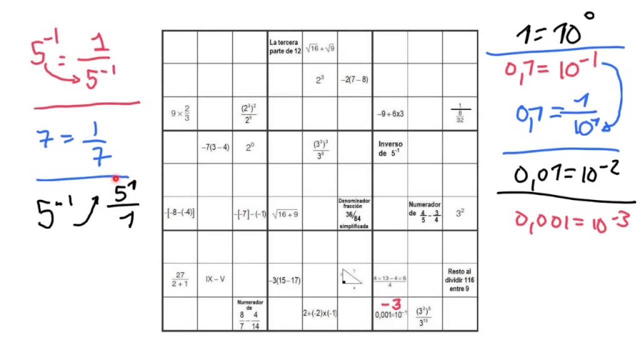 Sudoku Operaciones Matematicas Youtube
