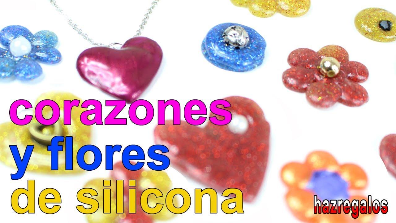 Facil simos corazones y flores de silicona youtube - Manualidades con silicona ...