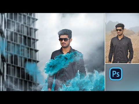 Color Smoke Bomb Explosion | Photo Manipulation in Photoshop cc 2018