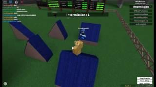 Playing Roblox Ninja Warrior /w friend part 1