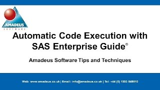 SAS Tip: Automatic Code Execution with SAS Enterprise Guide