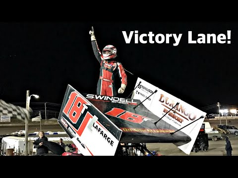 Dominating Sprint Car Win At The Electric City Speedway!