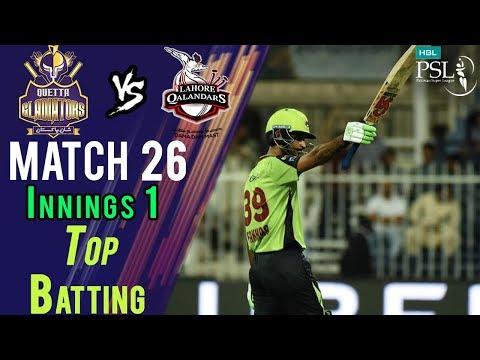 Fakhar ZamanBatting | Lahore Qalandars Vs Quetta Gladiators| Match 26 | 14 Mar | HBL PSL 2018