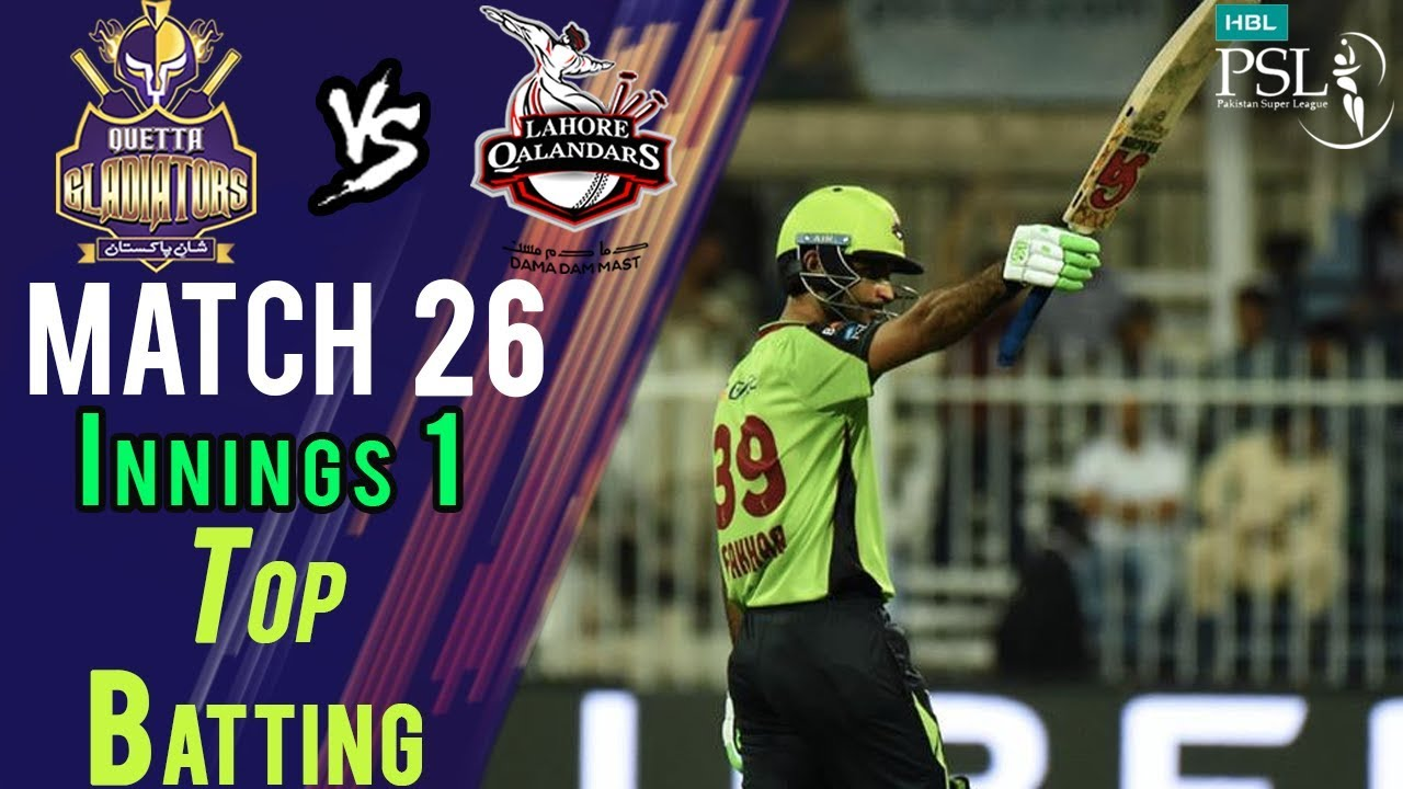 Fakhar Zaman Batting | Lahore Qalandars Vs Quetta Gladiators | Match 26 | 14 Mar | HBL PSL 2018