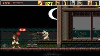 the revenge of shinobi genesis mega drive hardest no shurikins part 1 3