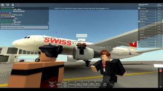 SWISS Flight Review #2 (ROBLOX) FLIGHT CANCELLED DUE TO EXPLOITER