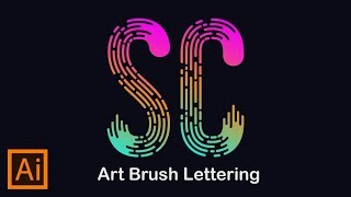Illustrator Trick : Art  Brush Lettering