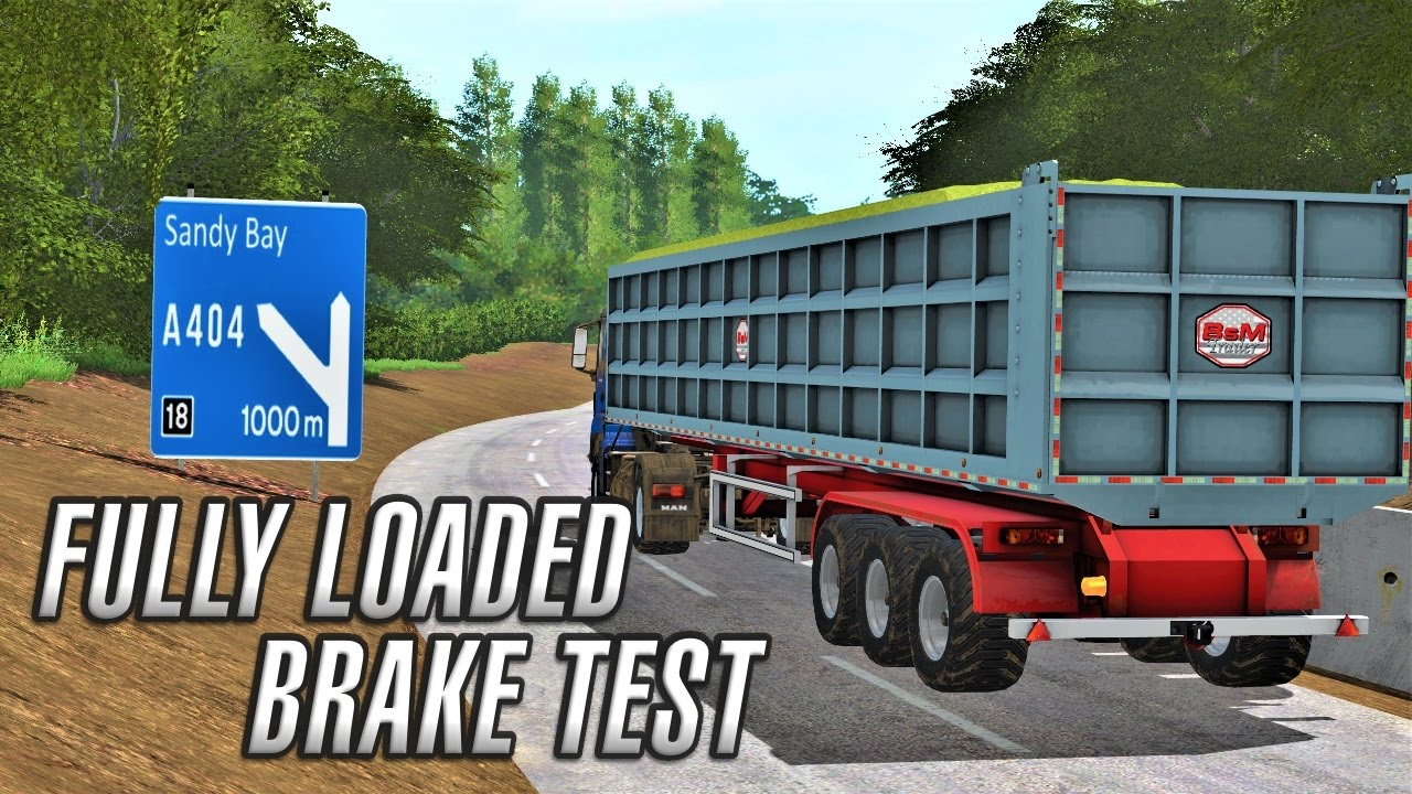 Fully Loaded HGV Brake Test | FS17 by Daggerwin Extra