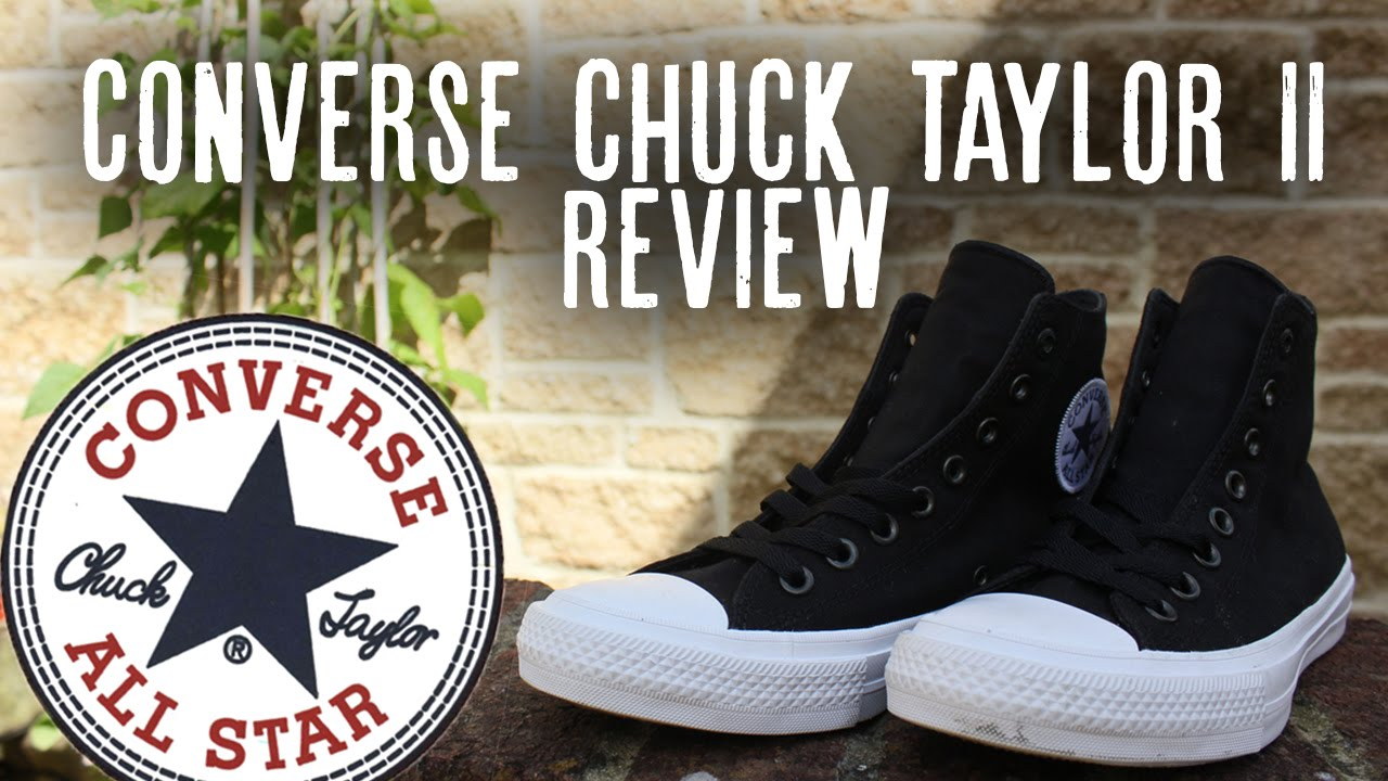 CONVERSE CHUCK TAYLOR 2 II REVIEW + ON FEET - YouTube 627ac71ed