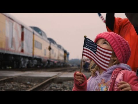 Mourners Honor George H W Bush Along Train Route Youtube