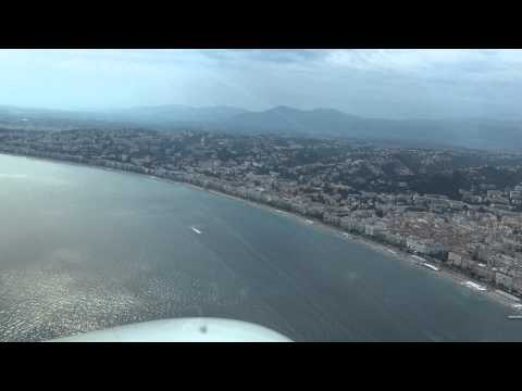 Approach on Nice Airport.