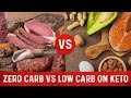 Zero Carb vs. Low Carb on Keto