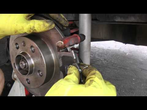 How to change your back brake pads and rotors on a 99-05 Volkswagen vw golf gti mk4 jetta gli