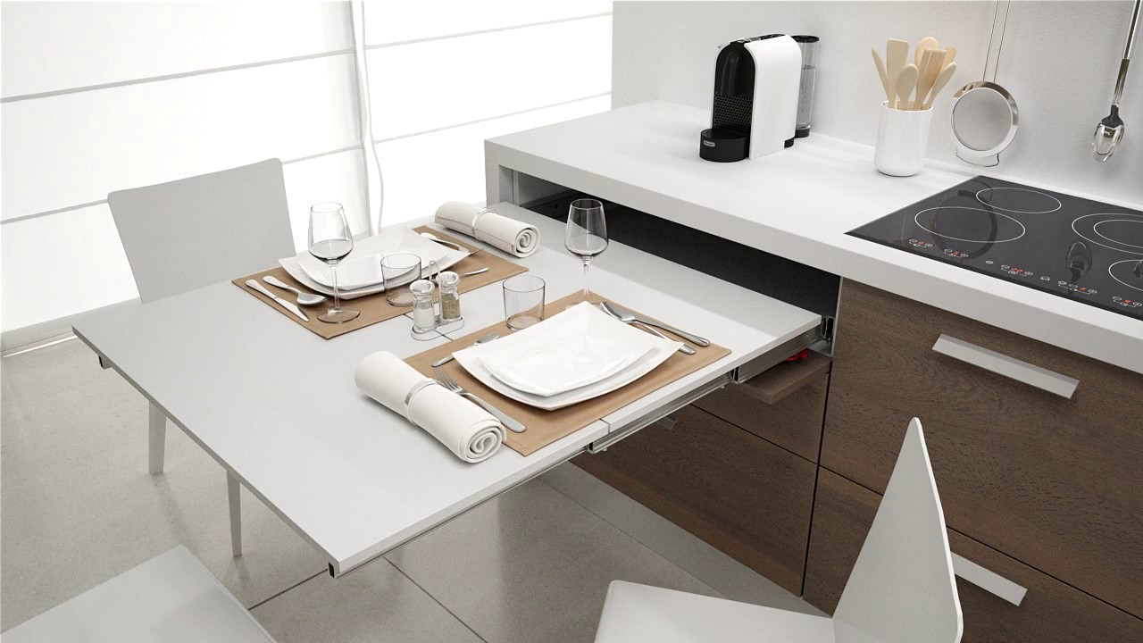 Pull Out Kitchen Table lunch 900mm pull out kitchen table | box15 - youtube