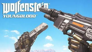 Wolfenstein: YoungBlood ALL Weapons Animations in Super Slow Motion