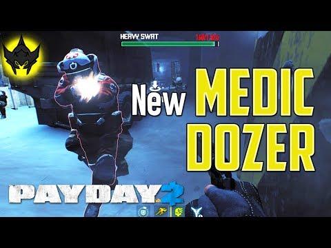 PAYDAY 2: NEW Medic Bulldozer (Crime Spree Update + Minigun Dozer)
