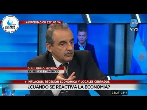Guillermo Moreno en  A24  27/03/17  Completo