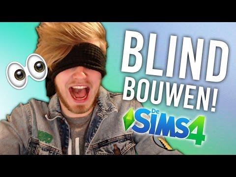 HUIS BOUWEN MET BLINDDOEK! - Sims 4 Challenge