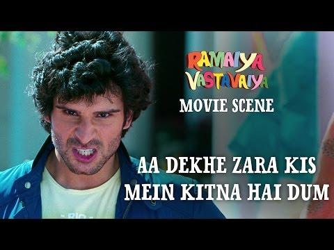 Aa Dekhe Zara Kis Mein Kitna Hai Dum - Ramaiya Vastavaiya Scene - Girish & Shruti