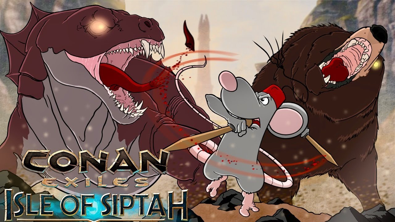 CONAN ISLE OF SIPTAH - LEGENDARY FARMING! RED Iguana Boss! Castaways Camp!