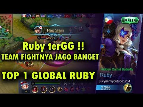 RUBY terGG!! JAGO BANGET - TOP 1 GLOBAL RUBY by Lucymimiyoutube1234 - Mobile Legend