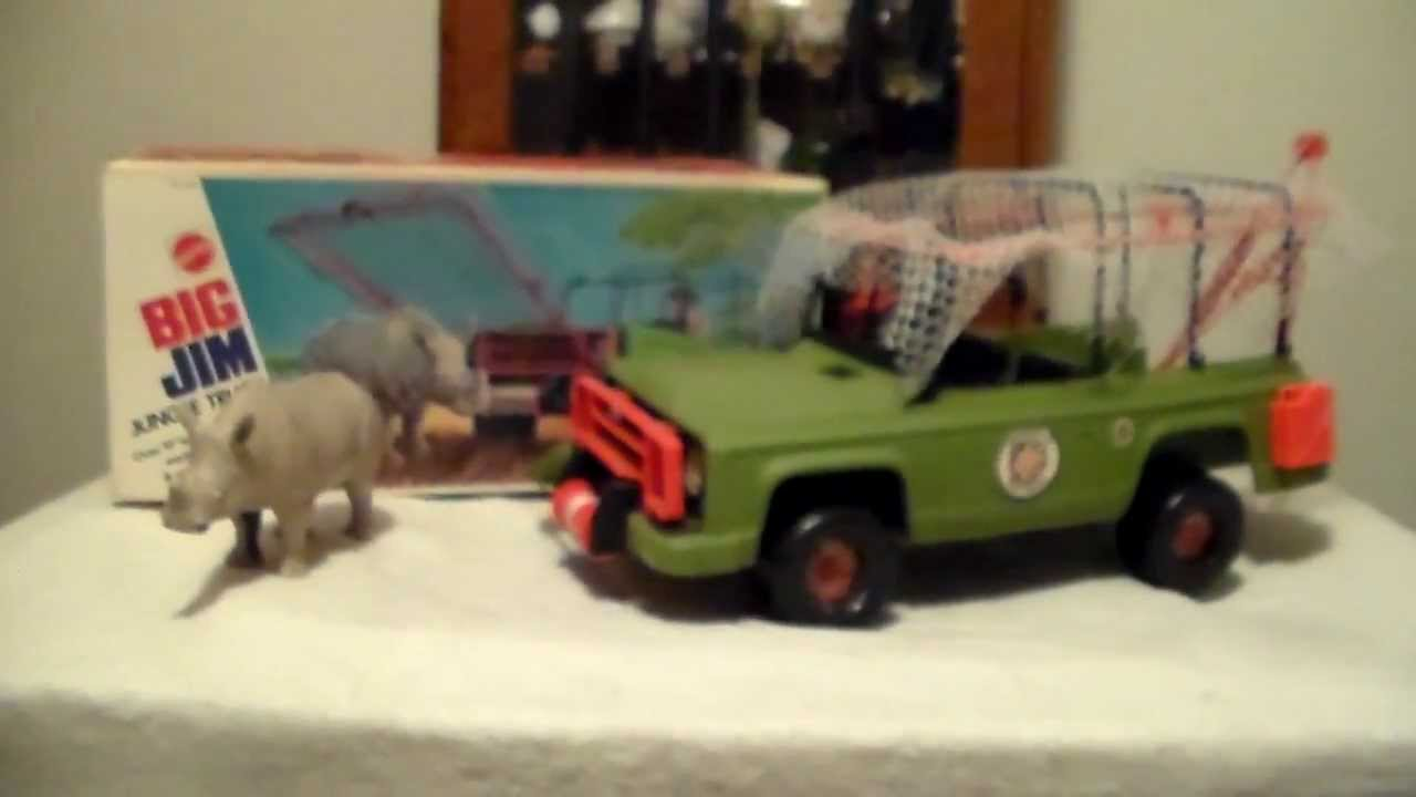 mattel big jim jungle truck with box 1970 39 s youtube. Black Bedroom Furniture Sets. Home Design Ideas