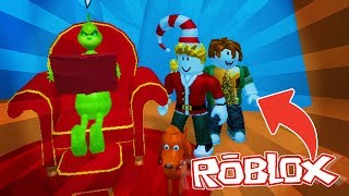 THE BEST GIFT LADRONES!! GRINCH ROBLOX 💙💚💛 BEBE MILO VITA AND ADRI 😍 AMIWITOS