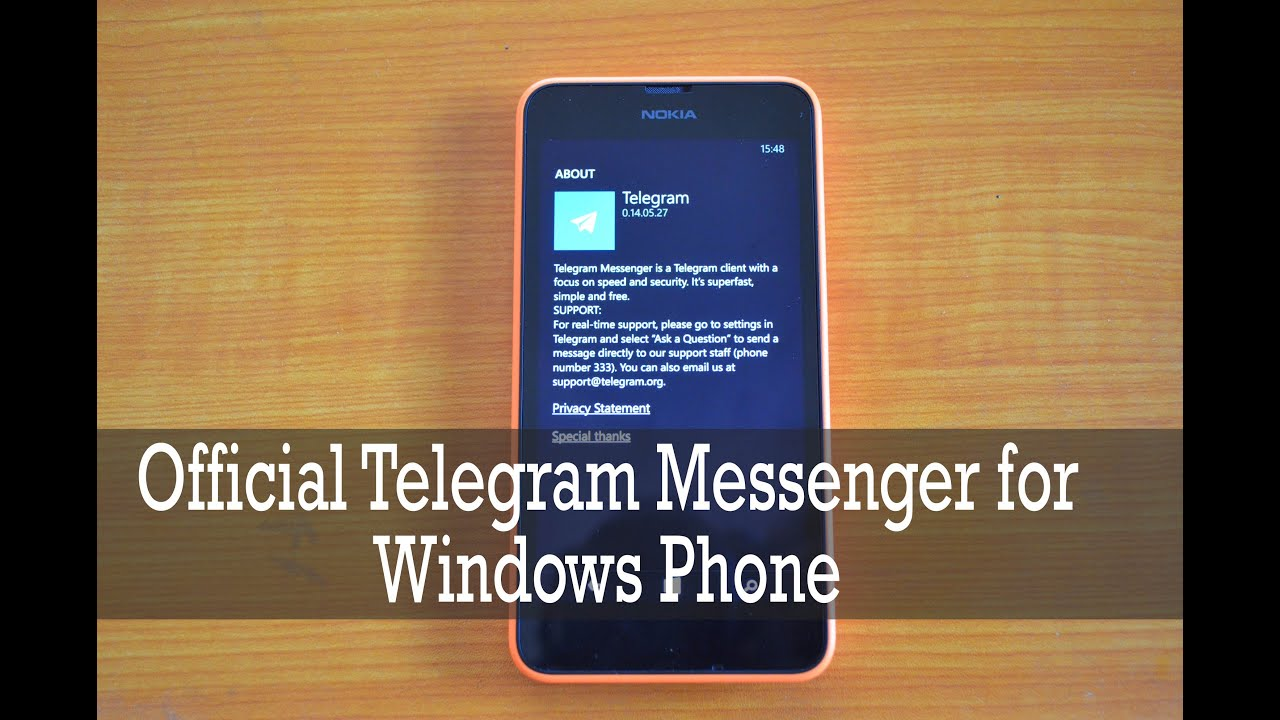 Official Telegram Messenger For Windows Phone 8