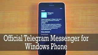 Official Telegram Messenger for Windows Phone 8