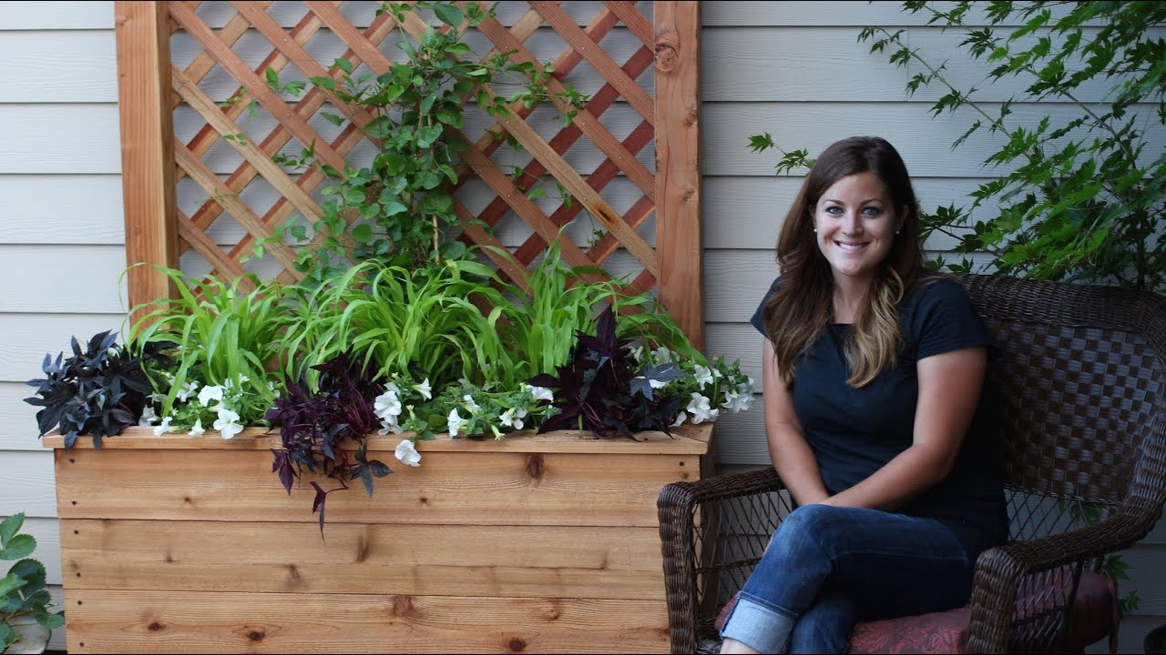 Exterior Design And Decks How To Build A Trellis Planter Youtube