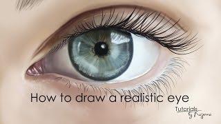 How to draw eyes in Photoshop / Tutorial by Kajenna