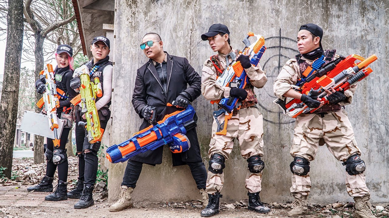 LTT Game Nerf War : Captain Warriors SEAL X Sniper Nerf Guns Fight Rocket Crazy Destroy Enemy Siege