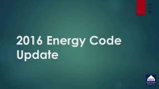 2016 Energy Code Update - Effective January 2017