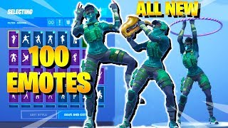Fortnite INSTINCT Skin Dance with 100 Emotes (including Hoop Master, Scenario, Breezy, Conga)
