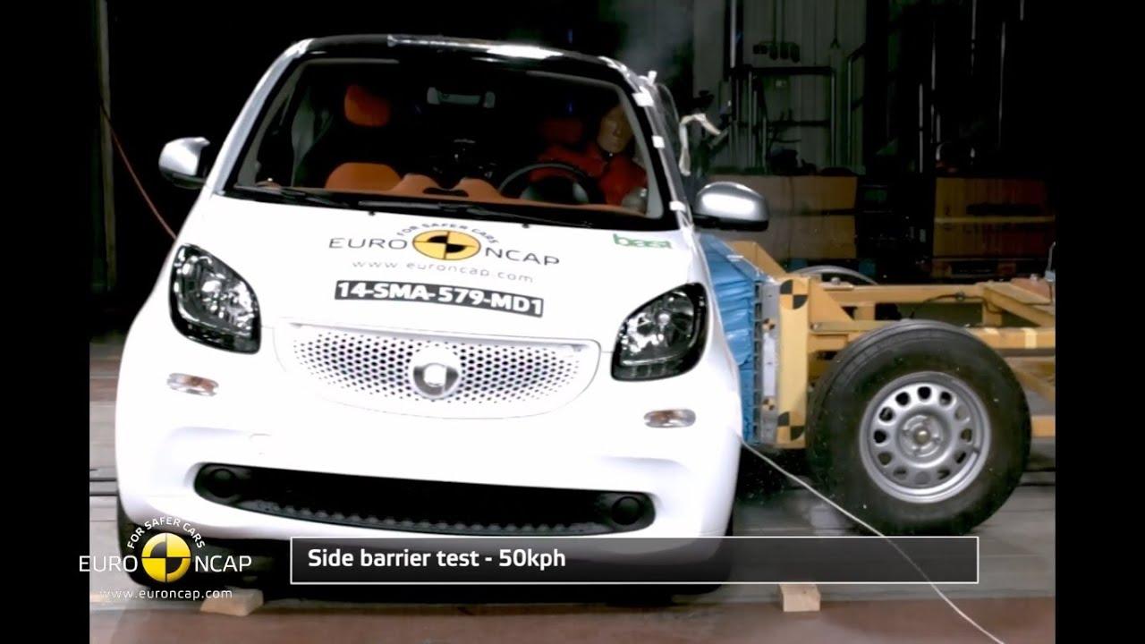 euro ncap crash test of 2014 smart fortwo 4 star safety rating youtube. Black Bedroom Furniture Sets. Home Design Ideas
