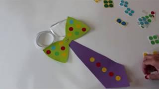 עניבה ופפיון מנייר