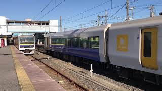 JR東日本E257系500番台(幕張車両センターNB-03編成)。