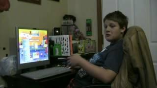 Gavin playing Hoyle card games
